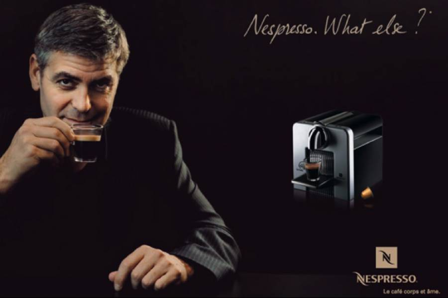branch character Nespresso George Clooney